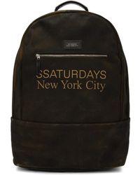 Saturdays NYC - Ssense Exclusive Brown Hannes Backpack - Lyst