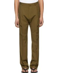 Lanvin - Brown One Pleat Trousers - Lyst