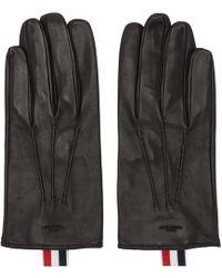 Thom Browne - Black Short Unlined Gloves - Lyst