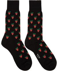 Paul Smith - Black Mini Strawberry Socks - Lyst