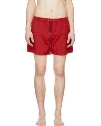 McQ - Red Swallow Swim Shorts - Lyst