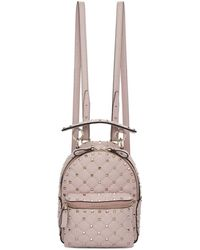 Valentino - Pink Garavani Paper Leather Mini Quilted Backpack - Lyst