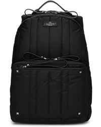 Valentino - Black Garavani Nylon Backpack - Lyst