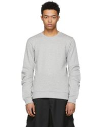 Comme des Garçons - Grey Panelled Sleeve Sweatshirt - Lyst