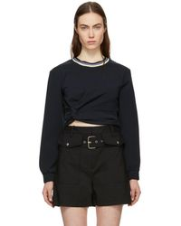3.1 Phillip Lim - Navy Twisted Sweatshirt - Lyst