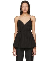 Protagonist - Black Pleated Camisole - Lyst