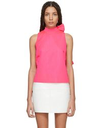 MSGM | Pink Bow Tank Top | Lyst