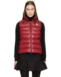 Moncler - Red Down Ghany Vest - Lyst
