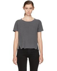 AMO - Black Twist Cut-out T-shirt - Lyst