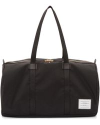Thom Browne - Black Small Unstructured Gym Bag - Lyst