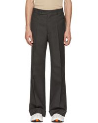 Maison Margiela - Grey Rolled Cuff Trousers - Lyst