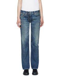 Visvim - Blue Social Sculptures Slim-fit Jeans - Lyst