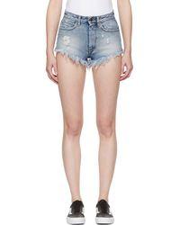 Palm Angels - Blue Denim Hot Trousers - Lyst