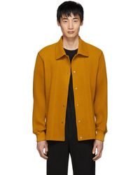 Homme Plissé Issey Miyake - Yellow Pleated Shirt - Lyst