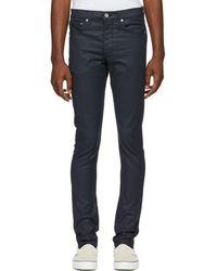Rag & Bone - Blue Coated Fit 1 Jeans - Lyst