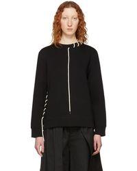 Craig Green - Black Laced Sweatshirt - Lyst