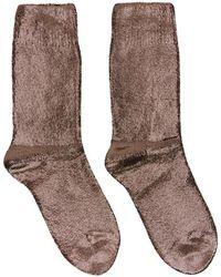 Ann Demeulemeester - Gunmetal Laminated Socks - Lyst
