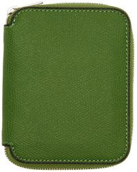Valextra - Green 6cc Zip Around Wallet - Lyst