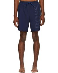 BOSS - Blue Orca Logo Swim Shorts - Lyst