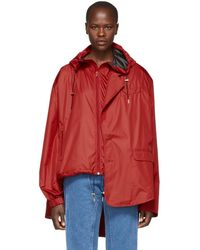 Y. Project - Red Raincoat Blazer Jacket - Lyst