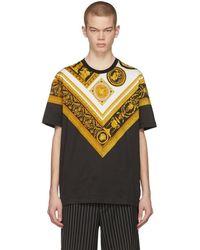 Versace - Black Brocade T-shirt - Lyst