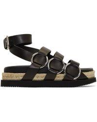 Alexander Wang - Black Bess Flatform Sandals - Lyst