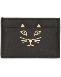 Charlotte Olympia - Black Feline Card Holder - Lyst
