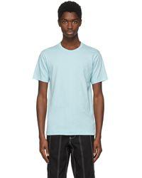 Comme des Garçons - Blue Logo Jersey T-shirt - Lyst