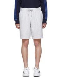adidas Originals - Grey Logo Shorts - Lyst
