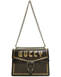 Gucci - Black Medium Sega Guccy All Over Dionysus Bag - Lyst