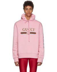Gucci - Pink Dragon Hoodie - Lyst