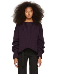 Yang Li - Purple Hand-knitted Oversized Jumper - Lyst