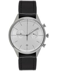 Uniform Wares - Silver And Black Leather C39 Chronograph Watch - Lyst