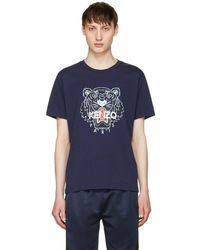 KENZO - Navy Tiger T-shirt - Lyst