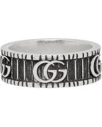 587094061d7 Gucci - Silver Double G Ring - Lyst