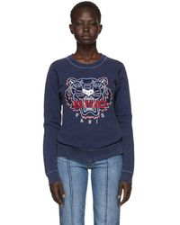 KENZO - Navy Limited Edition Bleached Tiger Sweatshirt - Lyst