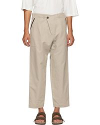 Jan Jan Van Essche - Grey Washi Twill Trousers - Lyst