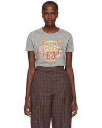KENZO - Grey Limited Edition Dragon Tiger T-shirt - Lyst