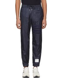 Thom Browne - Navy Ripstop Four Bar Lounge Pants - Lyst