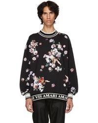Dolce & Gabbana - Black Flower Sweatshirt - Lyst