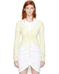 T By Alexander Wang - Ivory Merino Ruched Sweater - Lyst