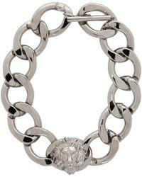 Versus - Silver Lion Chain Choker - Lyst