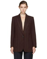 Isabel Marant - Burgundy Striped Kern Suit Blazer - Lyst
