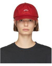 Noah - Red Water-repellent Logo Cap - Lyst