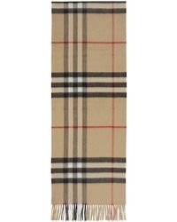 Burberry - Beige Cashmere Giant Check Scarf - Lyst