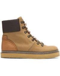 See By Chloé - Tan Nubuck Eileen Boots - Lyst