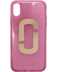 Marc Jacobs - Pink Jelly Glitter Snapshot Iphone X Case - Lyst
