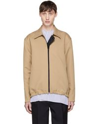 Marni - Tan Collared Jacket - Lyst