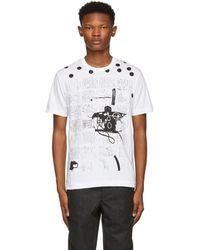 Comme des Garçons - White And Black Basquiat Print T-shirt - Lyst