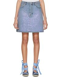Acne Studios - Blue Sharmayne Denim Miniskirt - Lyst
